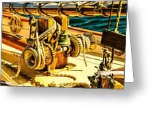 Ships Bell Sailboat Greeting Card by Bob Orsillo