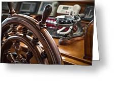Ships Wheel Greeting Card by Dale Kincaid
