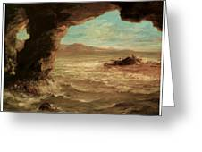 Shipwreck On The Coast Greeting Card by Eugene Delacroix