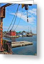 Shipyard Of Cape Ann... Greeting Card by Joanne Beebe