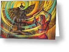 Shiva Shakti Greeting Card by Vrindavan Das