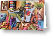 Shoe Addict Greeting Card by The Art of DionJa'Y