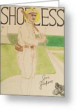 Shoeless Joe Jackson Greeting Card by Rand Swift