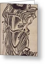 Shoki The Demon Queller Greeting Card by Okumura Masanobu