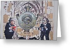 Sholem Aleichem And Selma Lagerlof In Jerusalem Greeting Card by Nekoda  Singer