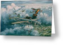 Shoot-out Over Saigon Greeting Card by Randy Green