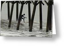 Shooting The Pier Greeting Card by Karen Wiles