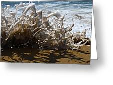 Shorebreak - The Wedge Greeting Card by Joe Schofield