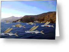 Shoreline Squadron Greeting Card by Snake Jagger