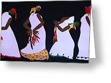 Shout Dance Greeting Card by Ruth Yvonne Ash