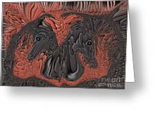 Show Time...beautiful Horses Greeting Card by Sherri  Of Palm Springs