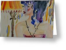 Showgirl Greeting Card by Beverley Harper Tinsley