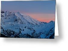Shuksan Sunset Panorama Greeting Card by Mike Reid