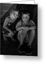 Siblings Greeting Card by Julie Dant