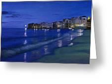 Sicilian Sunset Greeting Card by Cecilia  Brendel