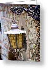 Sicilian Village Lamp Greeting Card by David Smith