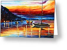 Sicily Messina Greeting Card by Leonid Afremov