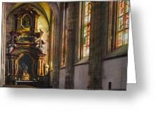 Side Chapel Of St Barbara Greeting Card by Joan Carroll