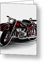 Sidecar Greeting Card by Cheryl Young
