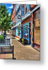 Sidewalk Scenes Greeting Card by Mel Steinhauer
