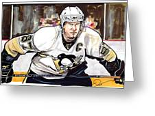 Sidney Crosby Greeting Card by Dave Olsen