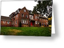 Sigma Phi Epsilon Fraternity On The Wsu Campus Greeting Card by David Patterson