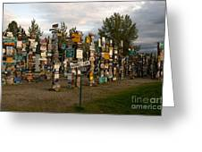 Sign Post Forest Greeting Card by Mark Newman