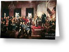 Signing Of The United States Constitution Greeting Card by Pg Reproductions
