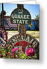 Signs Of The Times On Route 66 Greeting Card by Lee Craig