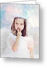 Silent Angel Greeting Card by Stephanie Frey
