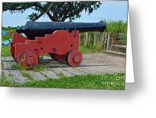 Silent Cannon Greeting Card by Alys Caviness-Gober