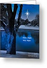 Silent Night Greeting Card by Betty LaRue