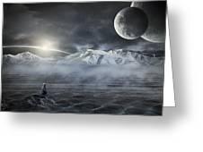 Silent Rise Greeting Card by Svetlana Sewell