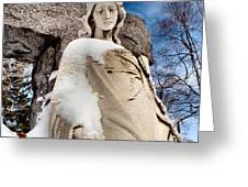 Silent Winter Angel Greeting Card by Gothicolors Donna Snyder