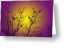 Silhouette Birds Greeting Card by Christina Rollo