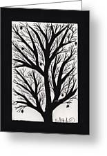 Silhouette Maple Greeting Card by Barbara St Jean