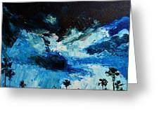 Silhouette Of Nature II Greeting Card by Patricia Awapara
