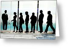 Silhouettes On Broadway Greeting Card by Allen Beatty
