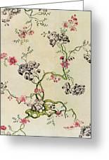 Silk Design Greeting Card by Anna Maria Garthwaite