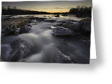 Silky River Greeting Card by Davorin Mance