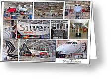 Silver Airways Large Composite Greeting Card by Diane E Berry