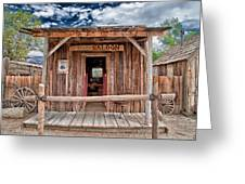 Silver Canyon Saloon Greeting Card by Cat Connor