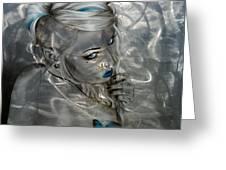 'silver Flight' Greeting Card by Christian Chapman Art