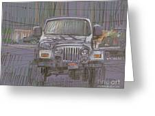 Silver Jeep Greeting Card by Donald Maier