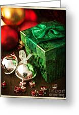 Silver Sleigh Bells Greeting Card by Edward Fielding