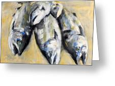 Silvers In Summer Greeting Card by Timi Johnson