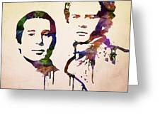 Simon And Garfunkel Greeting Card by Aged Pixel