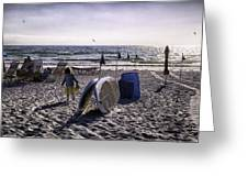 Simpler Times 1 - Miami Beach - Florida Greeting Card by Madeline Ellis