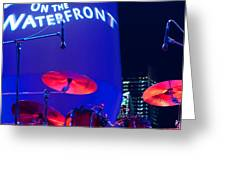 Singapore Drum Set 02 Greeting Card by Rick Piper Photography