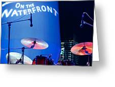 Singapore Drum Set 03 Greeting Card by Rick Piper Photography